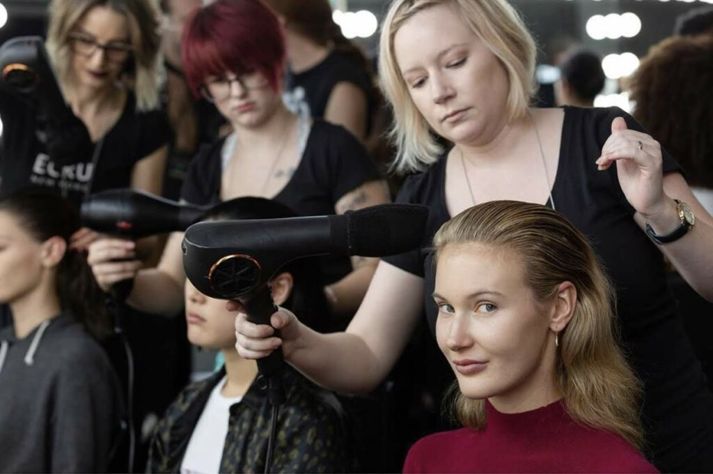 Fashion runway work at NYFW from Jovie Salon